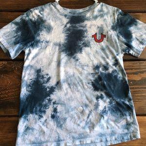 Men's True Religion blue sea tie die T-shirt